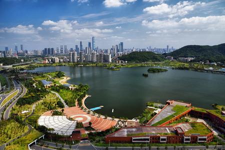 Changsha Xianjiahu West Lake Cultural Park City Scenery
