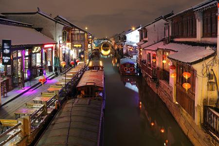 Suzhou Qili Shantang Street Night Scene 報道画像