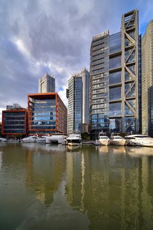 Shanghai North Bund City Architecture Scenery