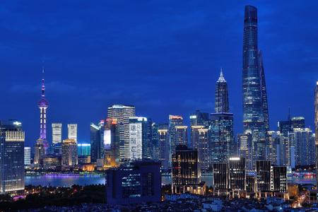 Shanghai Pudong Lujiazui City Building Night Scenery
