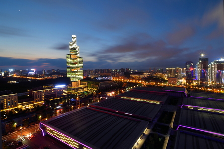 Guiyang Guizhou Finance Chengdu Zhongtian 201 Building Night Scene