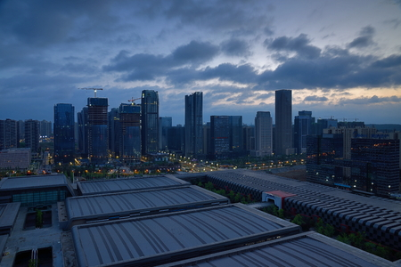 Guiyang City, Guizhou Province, the scenery of the city dawn