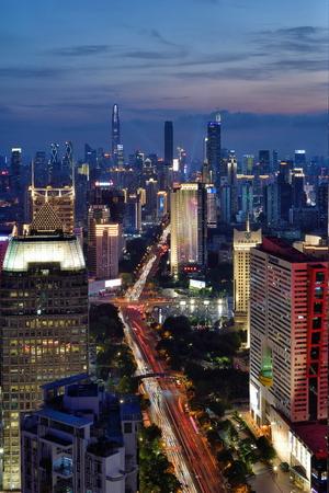 Shenzhen Shennan Avenue City Architecture Scenery Night Scenery