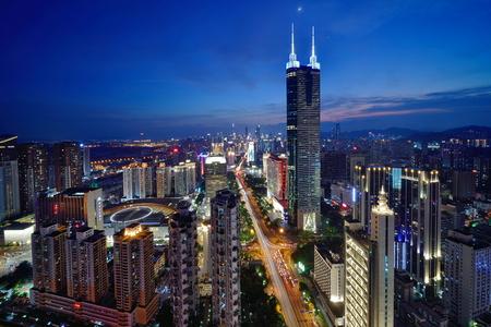 Shenzhen Luohu Diwang Building City Scenery Night Scenery