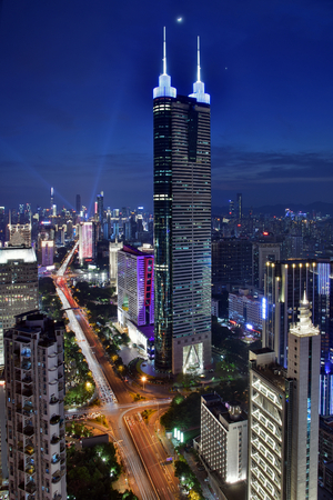 Shenzhen Luohu Diwang Building City Scenery Night Scenery Stock Photo - 119787957