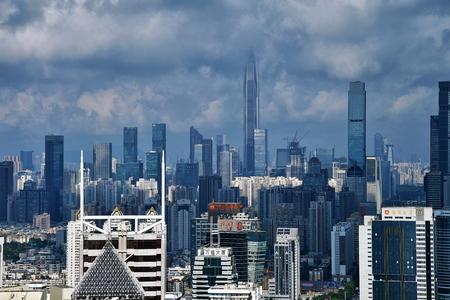 Shenzhen city architecture scenery Editorial