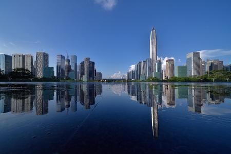 Shenzhen Futian Central District urban architecture scenery Editorial