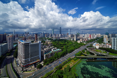 Shenzhen Luohu City Architecture Scenery Editorial