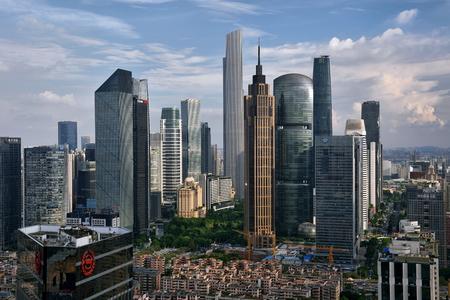 Guangzhou Tianhe Zhujiang New City architectural scenery Editorial