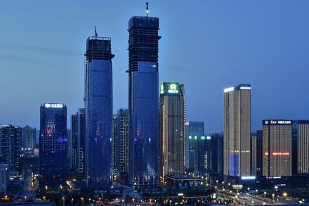 Guiyang Guizhou City scenery night light show Editorial