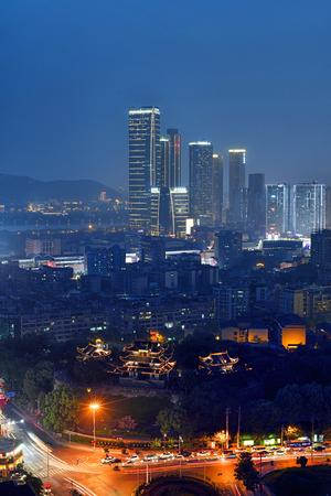 Changsha Tianxin Pavilion night view Sajtókép