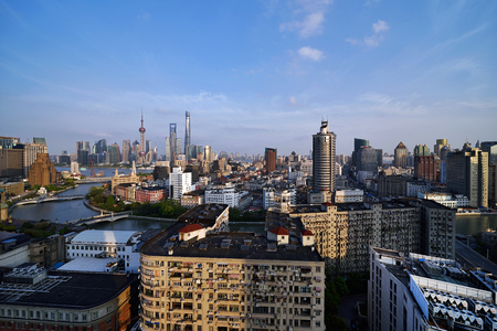 Shanghai Suzhou River Bund Lujiazui City Architecture Scenery