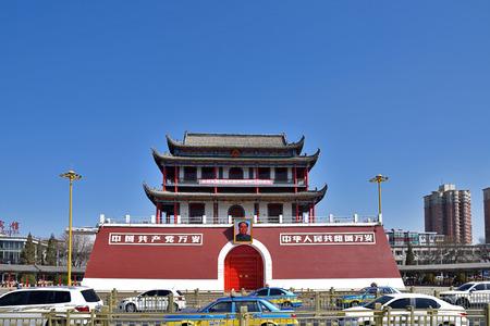 Ningxia Yinchuan South Smoke Gate City Building Xiaotiananmen