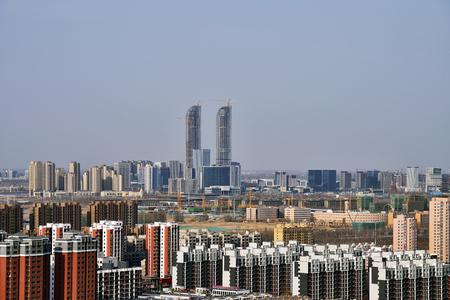 Yinchuan city architecture scenery Sajtókép