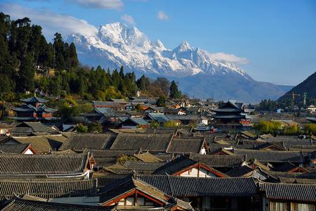 Snow Mountain Scenery of Dayan Ancient City, Lijiang, Yunnan