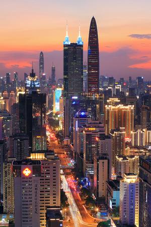 Shenzhen Luhu Diwang Building Shennan Avenue City Scenery Night Scenery Sajtókép