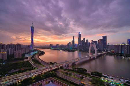 Guangzhou Tahai Xinsha Zhujiang New City City Scenery Night Scene Sajtókép