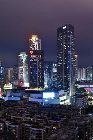 Guangzhou Tianhe City scenery night view