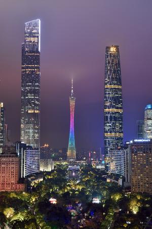 Guangzhou Tower Flower City Square City Scenery Night Scene