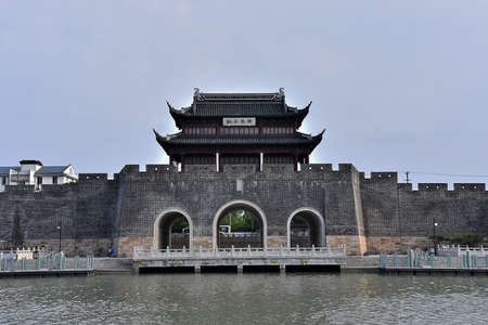 Suzhou Pingmen Ancient Architecture City Scenery