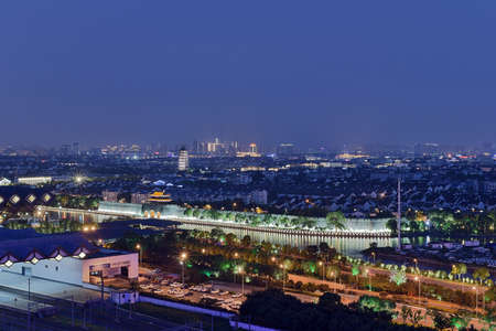 Scenery and night view of Suzhou Gusu ancient city