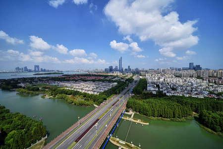 Suzhou Industrial Park Hudong CBD Jinji Lake City Scenery Sajtókép