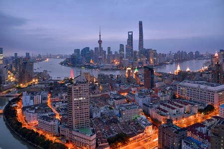 Shanghai Bund Lujiazui City Architecture Scenery