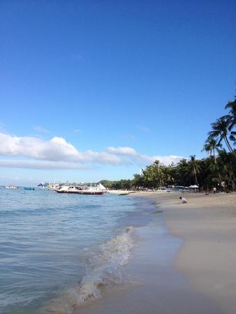 boracay: Morning at Station 3, Boracay, PH Stock Photo