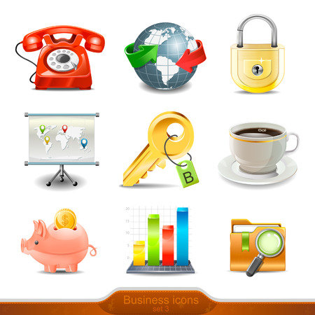Business icons set 3 Vector