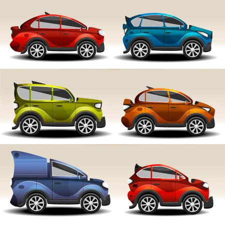 racecar: Cartoon cars  Illustration