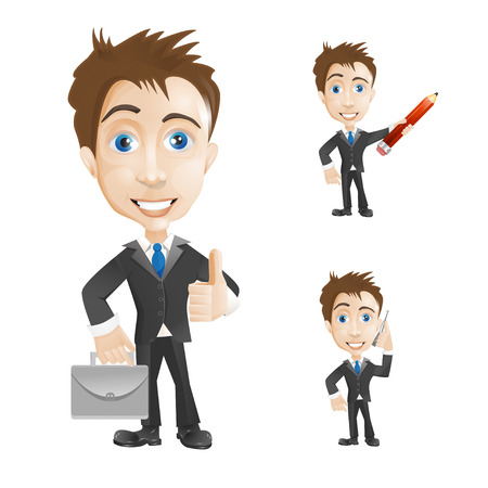 suit case: successful businessman Illustration