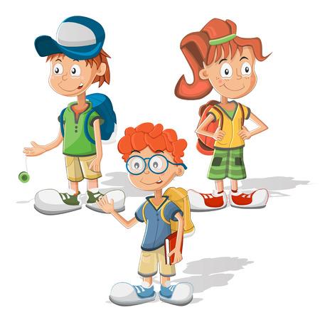 schoolchildren: schoolchildren Illustration