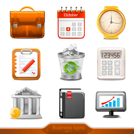 money button: businesss icons set1