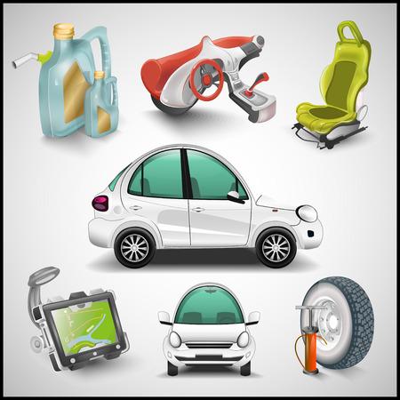 piezas coche: Coches y accesorios vector
