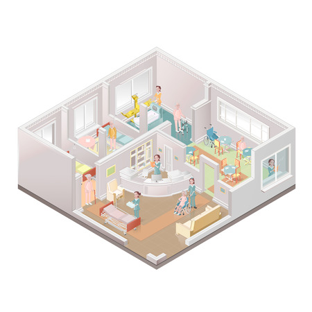 Assisted-living facility, nursing home Vector