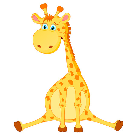 young animal: Giraffe vector