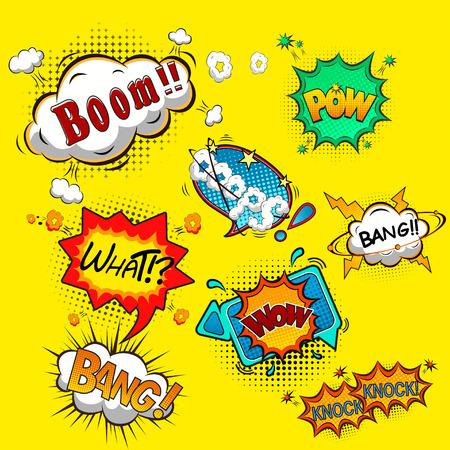chat bubbles: Comic speech bubbles