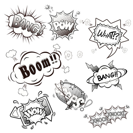 Comic speech bubbles vector Vector
