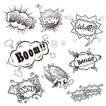 ooops: Comic speech bubbles vector