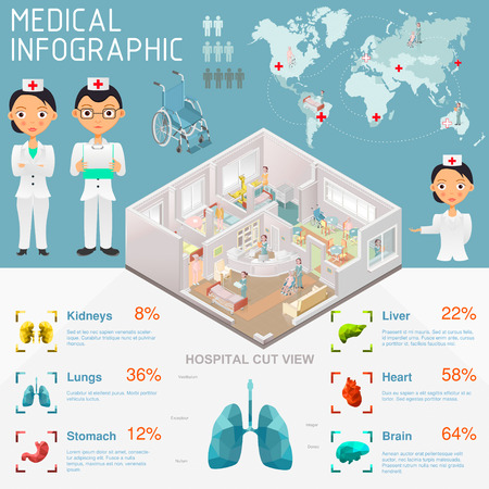health care facility: Medical Infographic  vector