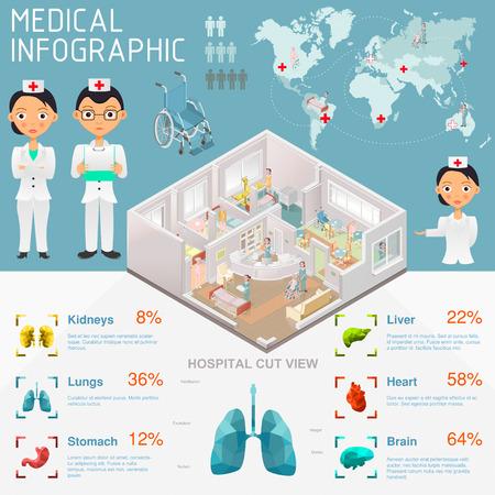 Vector Infografía médica