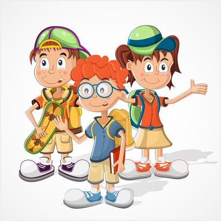 schoolchildren: Schoolchildren  vector Illustration