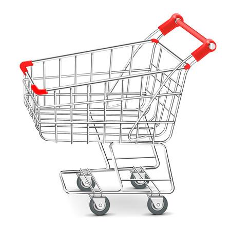 Shopping  supermarket cart Vector Vector