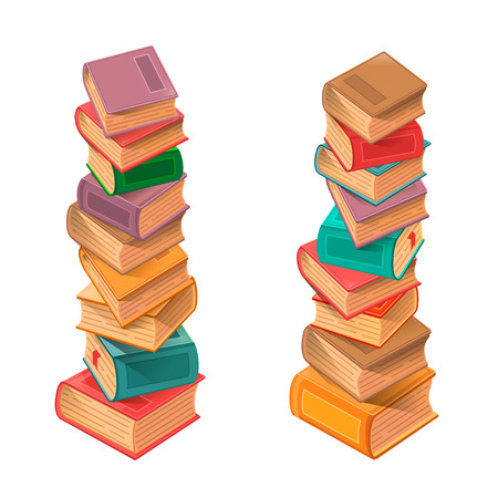Books stack Vector Vectores
