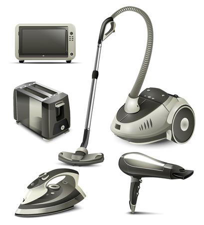 household appliances: household appliances illustration Stock Photo