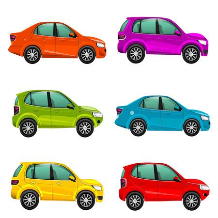 racecar: Colorful cars illustration