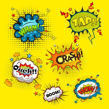 cartoon strip: Comic speech bubbles vector