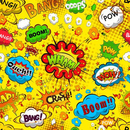 Comic speech bubbles naadloze patroon vector
