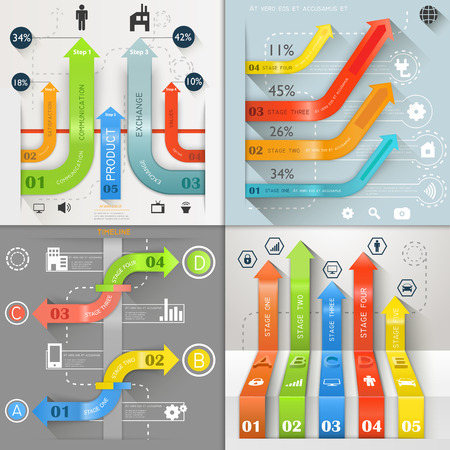 Infographic Arrows Business Marketing vector illustration Vector