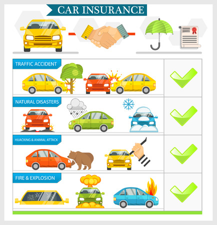 theft: Car Insurance vector illustration